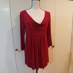 DKNY Red Tunic Top